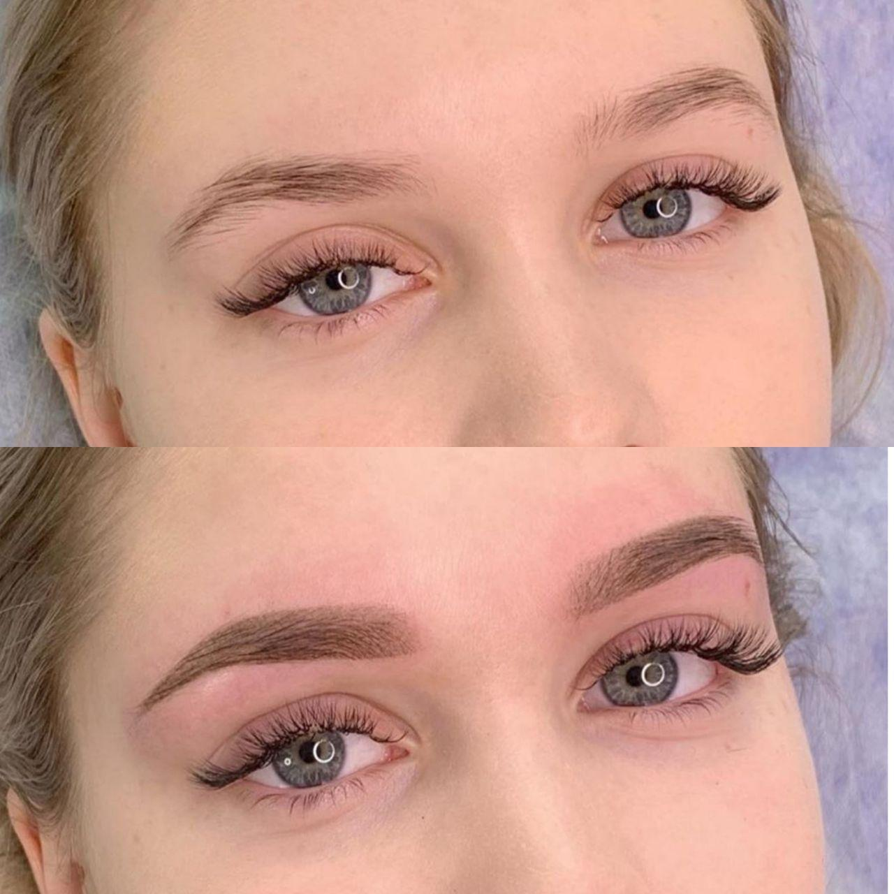 Перманентный макияж в Днепре До и После